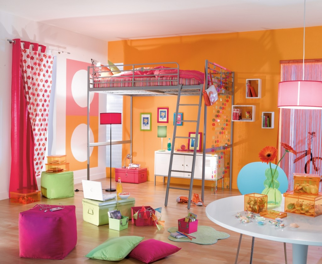 Inspiration chambre fille orange for Chambre de fille deco