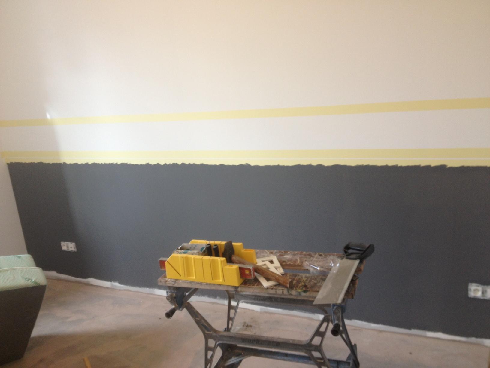 Comment Faire Des Rayures En Peinture Sur Un Mur peinture murale deux couleurs – gamboahinestrosa