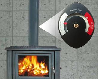 Poêle à Bois Un Chauffage Design à Surveiller Avec Un Thermomètre