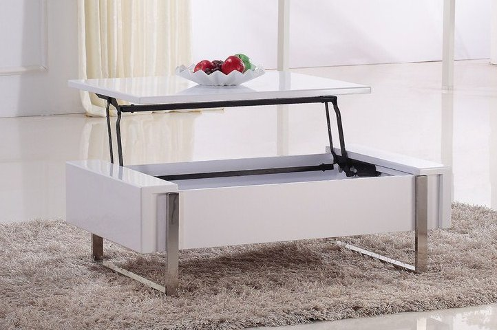 Une table basse relevable pour un s jour hors du commun - Table salon transformable ...